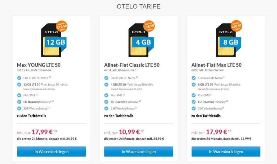 Otelo Sim Karte Aktivieren.Otelo Allnet Flat Classic 4gb Lte 50 Für 10 99 Monat Rechnerisch