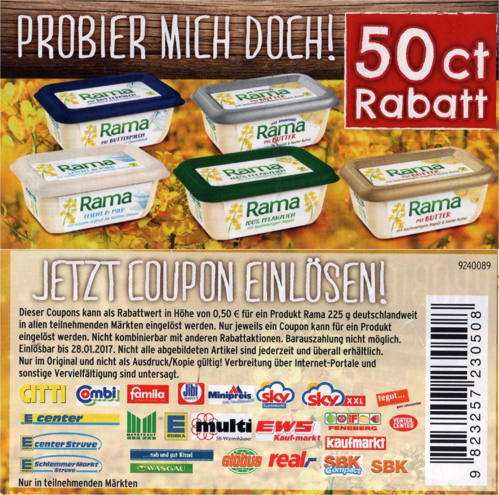 Lebensmittel rabatt coupons