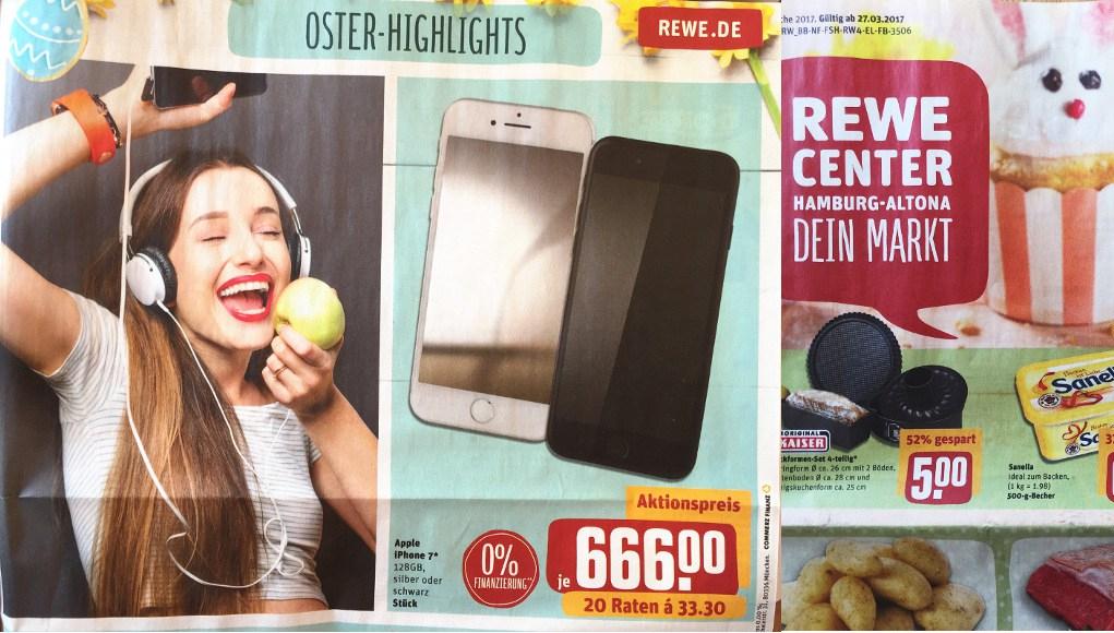 apple iphone 7 128 gb f r 666 ab montag rewe center lokal. Black Bedroom Furniture Sets. Home Design Ideas