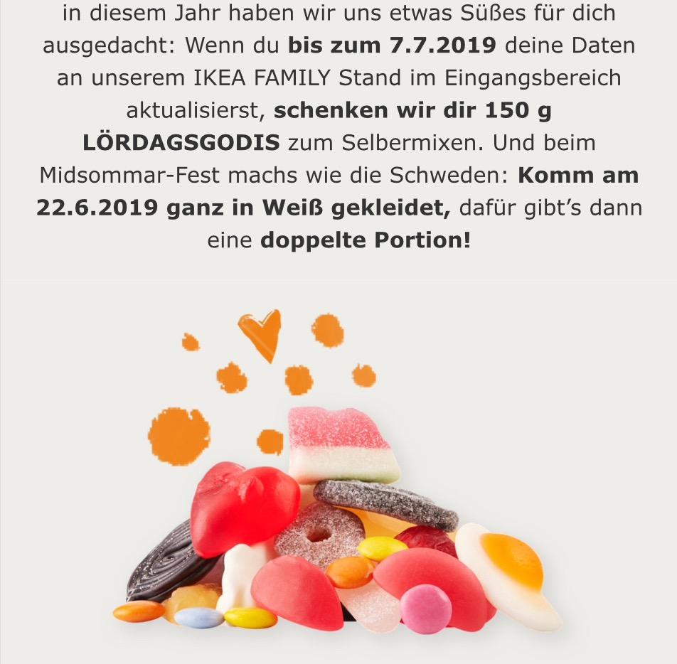 Ikea Family Daten Aktualisieren Für 150 G Lördagsgodis Fruchtgummi