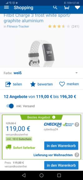 Fitbit Charge 3 Special Edition Inklusive Versand Mydealzde