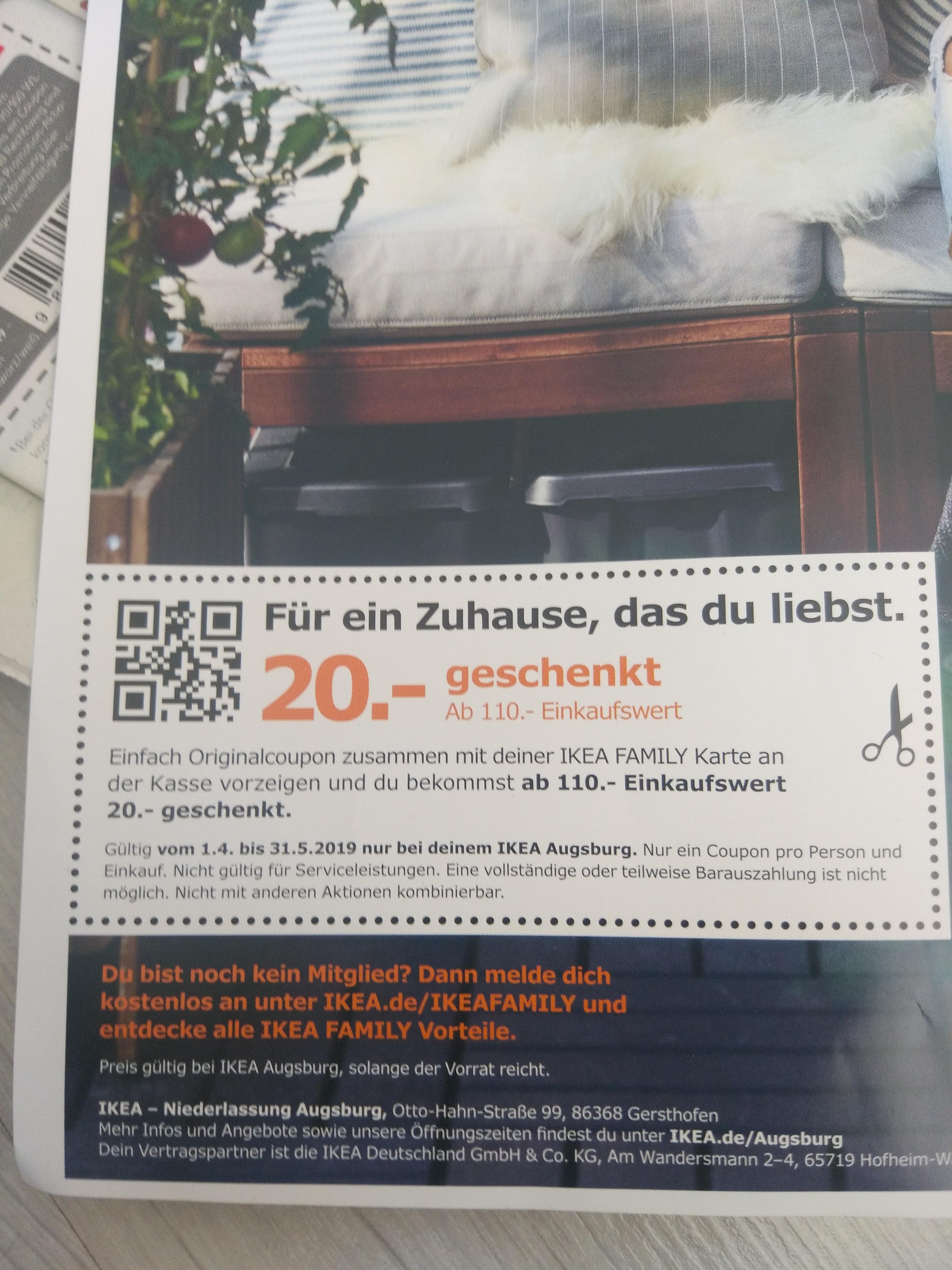 Ikea Gutschein Von 20 Mit 110 Bestellwert Augsburg Jetzt Die