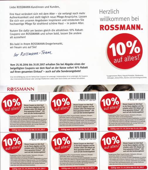 rossmann 10 euro gutschein. Black Bedroom Furniture Sets. Home Design Ideas