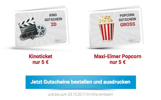 Cinestar gutscheine online ausdrucken