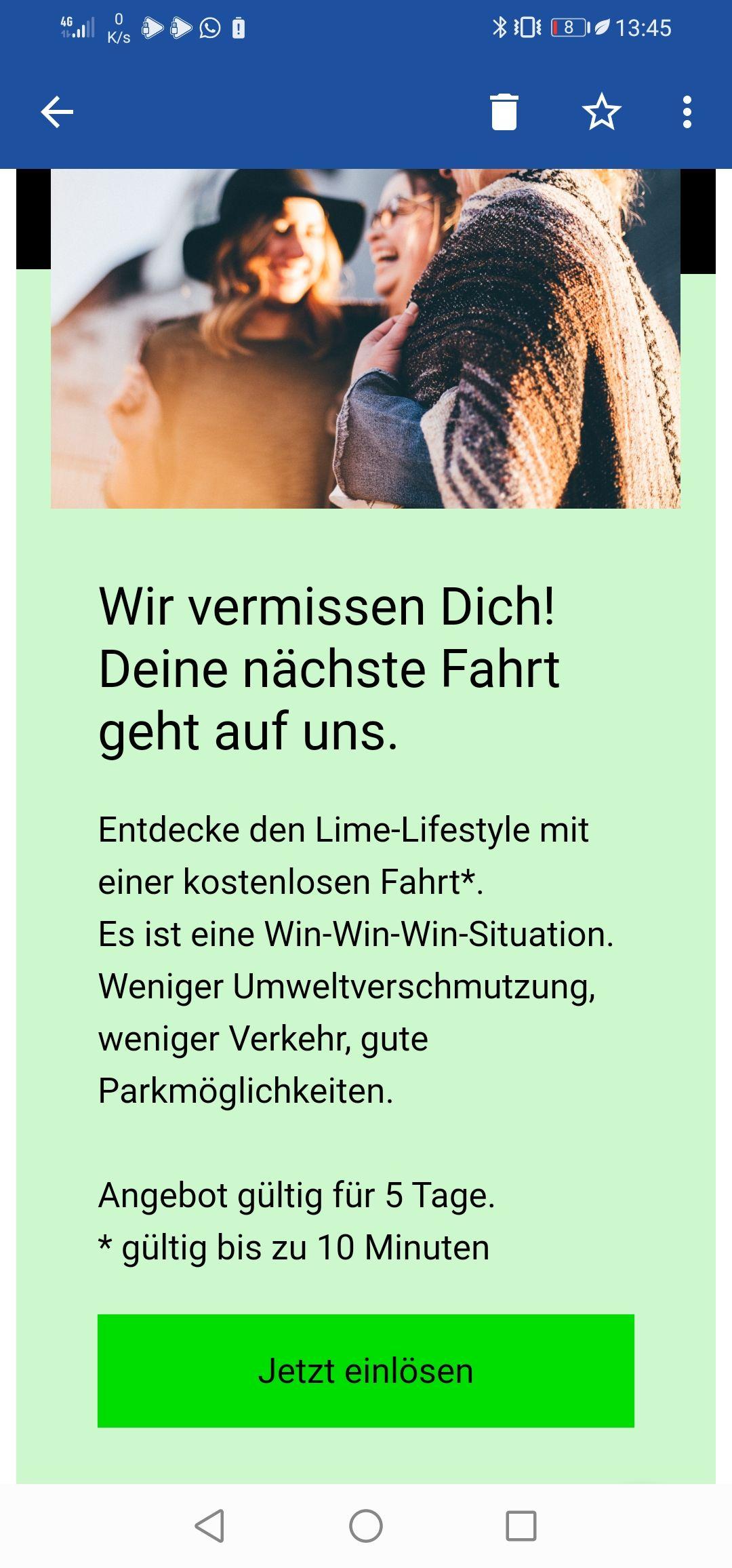 Lime Scooter Gutschein