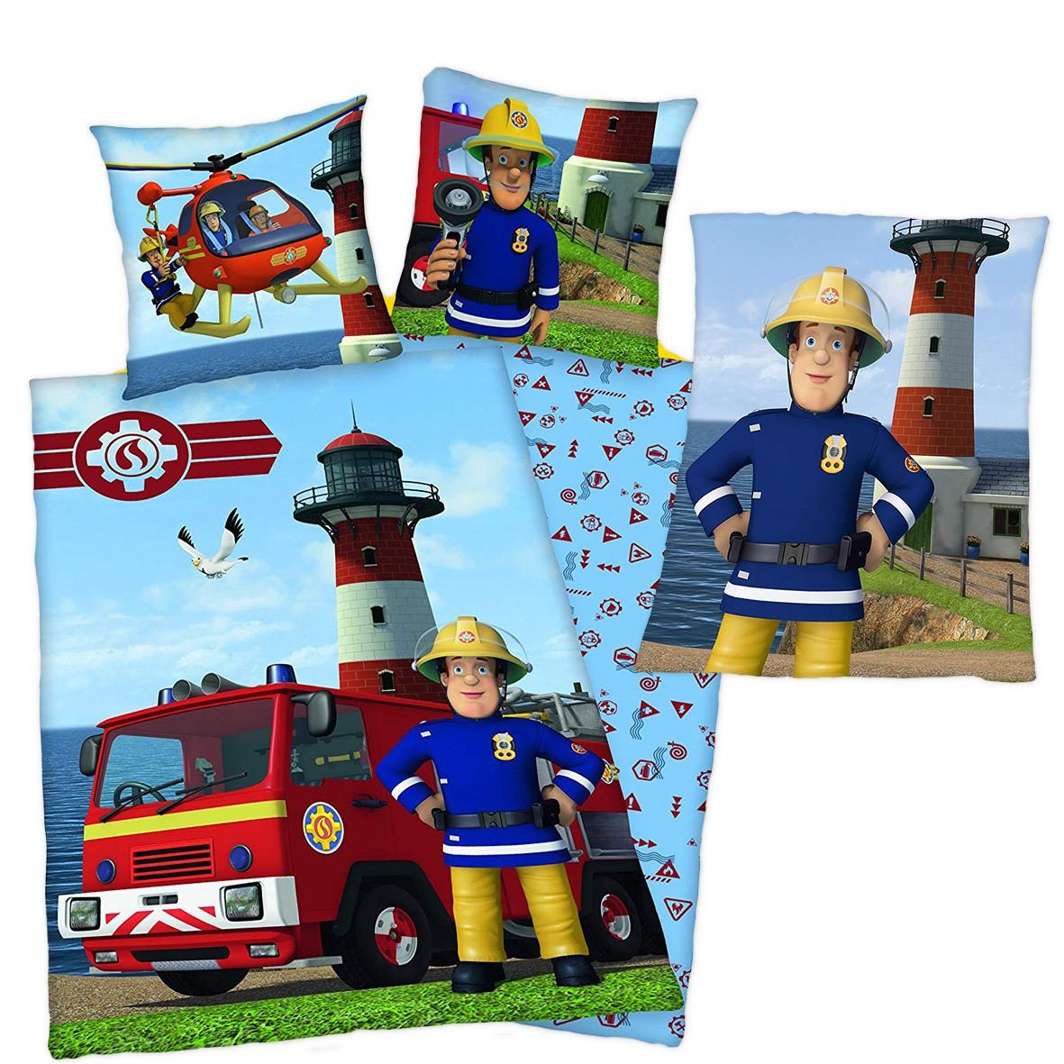 Feuerwehrmann Sam Bettwäsche Set Aus 100 Baumwolle Fleecedecke