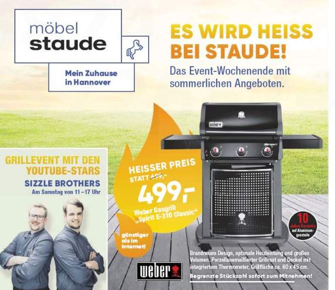 lokal hannover m bel staude hornbach weber gasgrill e 310 classic. Black Bedroom Furniture Sets. Home Design Ideas