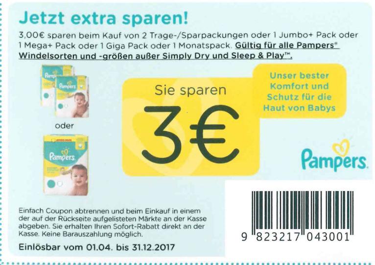 Pampers coupons deutschland