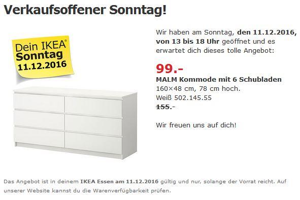 Lokal Ikea Essen Malm Kommode Mit 6 Schubladen In Weiss Fur 99