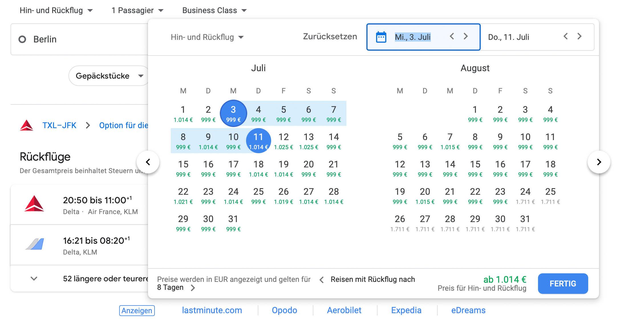 Non Stop Business Class Flüge Von Berlin Nach New York Auch Sommer