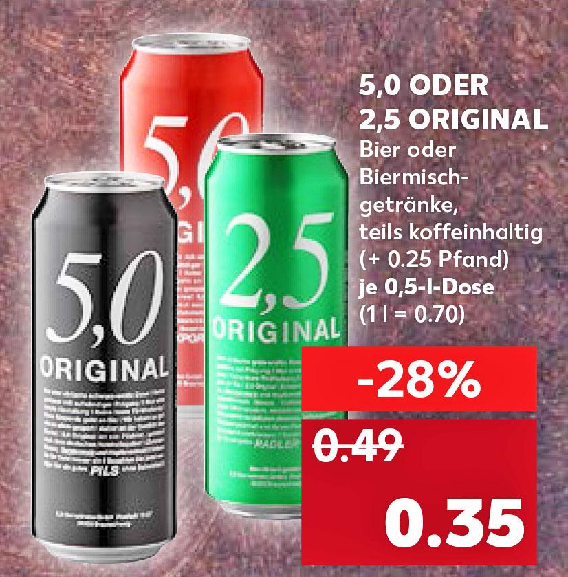Kaufland 5,0 Original für nur 35 Cent - mydealz.de