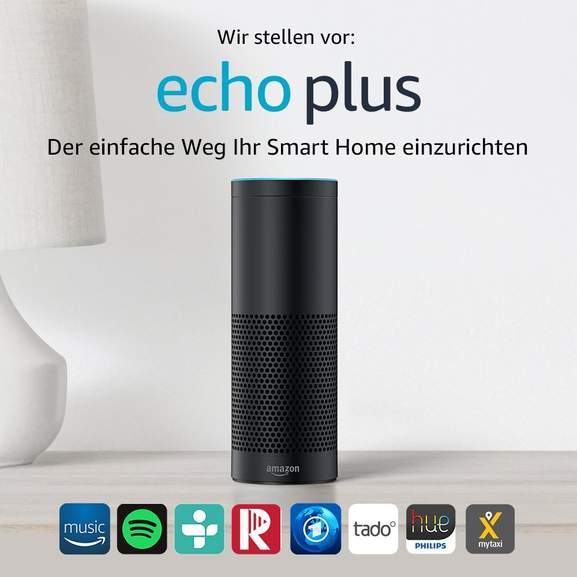 amazon echo plus 1 gen schwarz woox smart plug. Black Bedroom Furniture Sets. Home Design Ideas