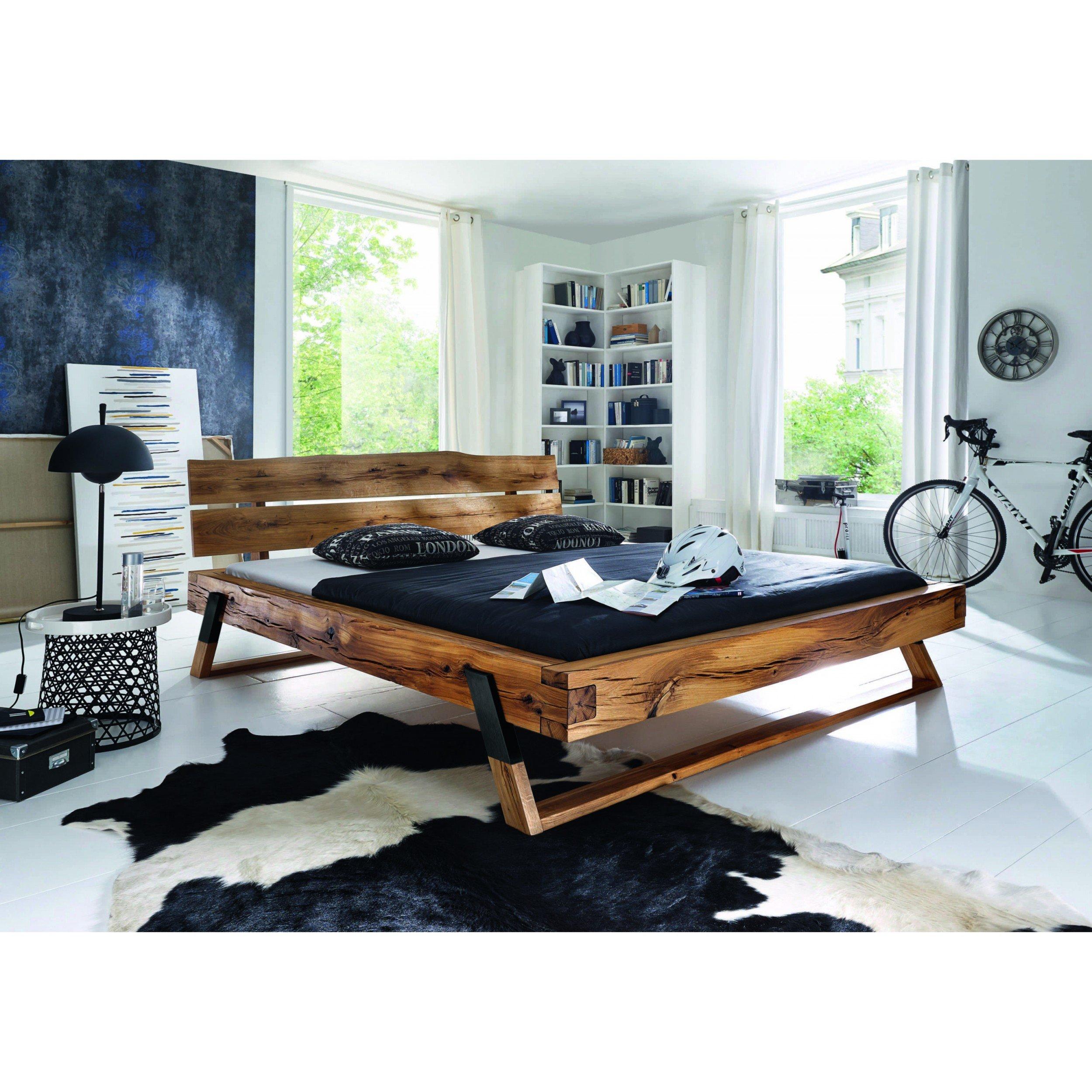 massivholzbett wildeiche ge lt 180x200cm inkl lieferung segm ller online. Black Bedroom Furniture Sets. Home Design Ideas