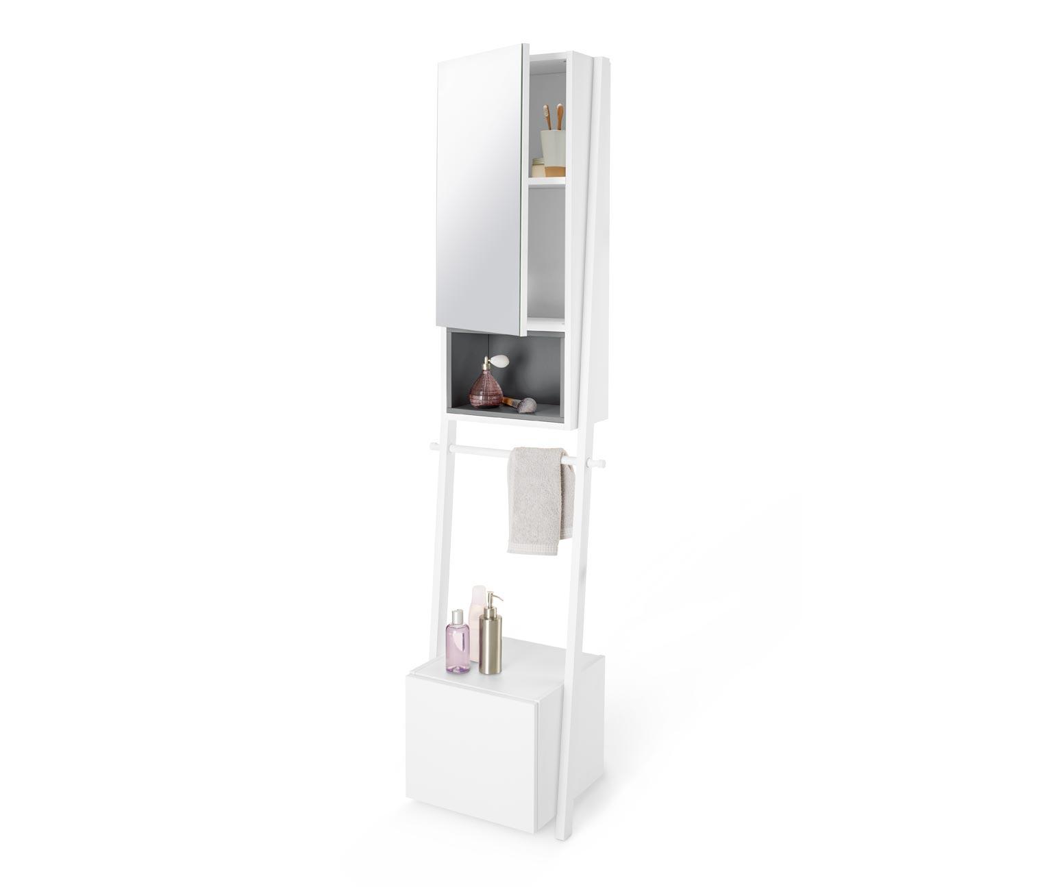 Badezimmer-Spiegelschrank, mit Handtuchhalterung, 2 Türen. Tchibo ...