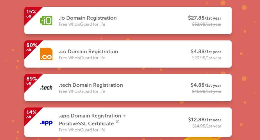 NAMECHEAP Domains wie .co/.tech /.app /.io & SSL-Zertifikate ...