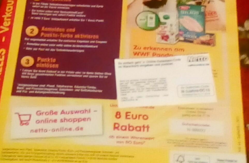 Netto Online 8 Rabatt Und 15fach Dcard Punkte Mydealzde