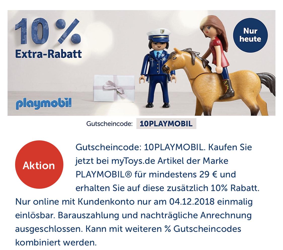 Mytoys 10 Extrarabatt Auf Playmobil 10 Paydirekt Shoop Oder