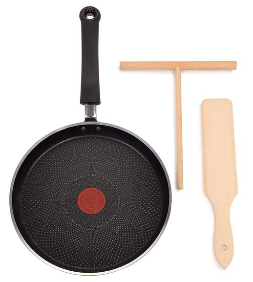 tefal crepes set mit 25cm pfanne verteiler und wender induktionsgeeignet f r 24 99 inkl. Black Bedroom Furniture Sets. Home Design Ideas