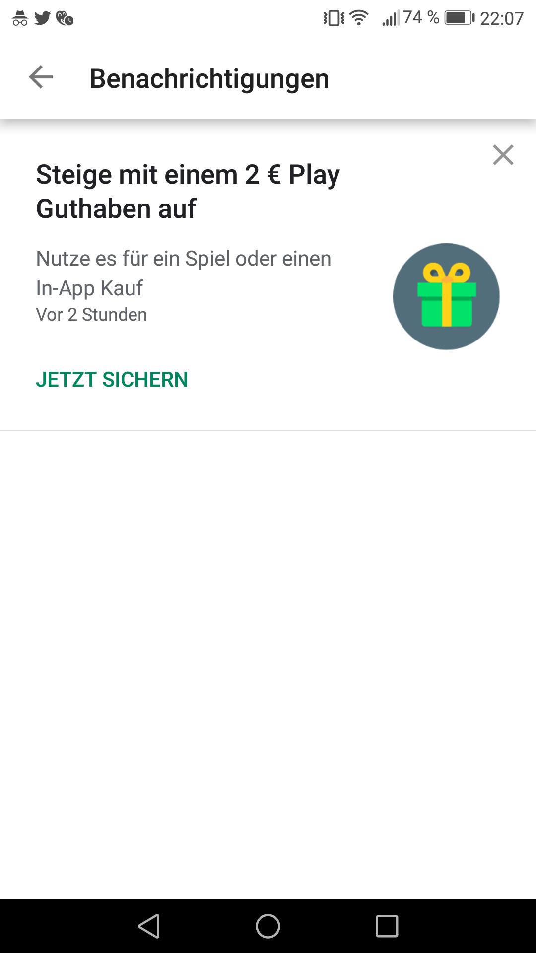 2EUR Play Store Guthaben Fur In App Kaufe Geschenkt Ausgewahlte