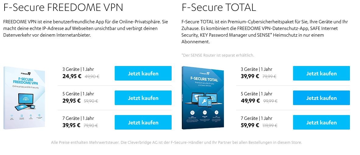 Black Friday F Secure Vpn 50 Rabatt Mydealz De