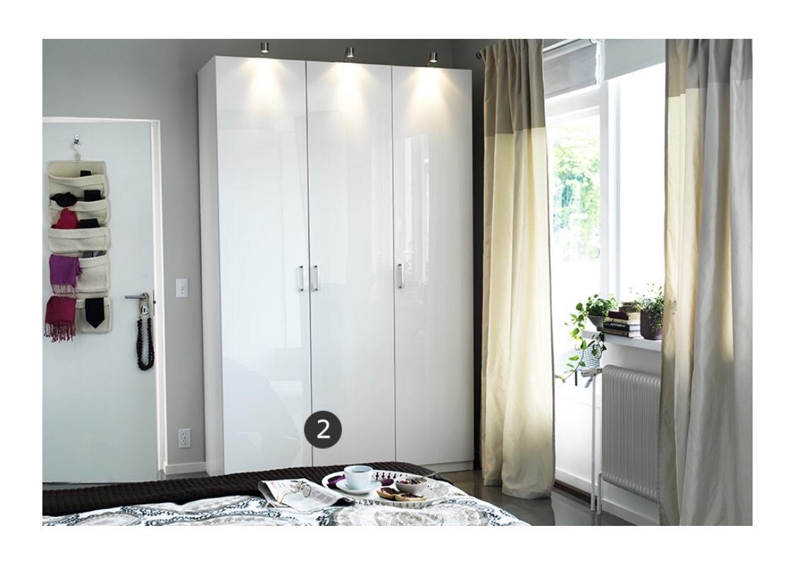 3 x ikea fardal t r mit scharnier hochglanz wei f r pax schr nke evtl mit 25 gutschein. Black Bedroom Furniture Sets. Home Design Ideas