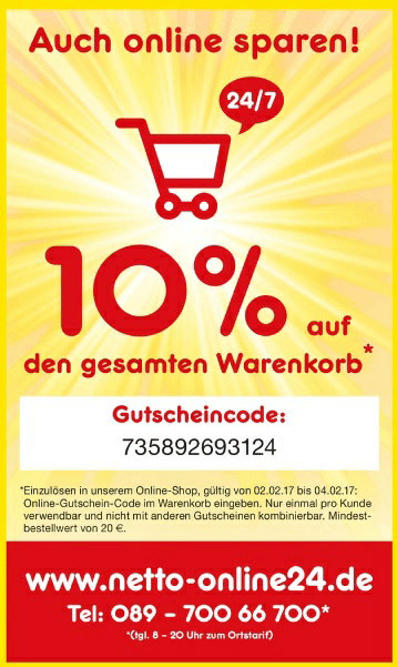 Netto Marken-Discount Gutschein » 0,99€ Rabatt, April 2017 ...