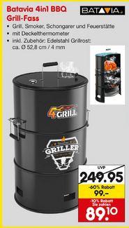 Batavia 4in1 Grill BBQ Grillfass