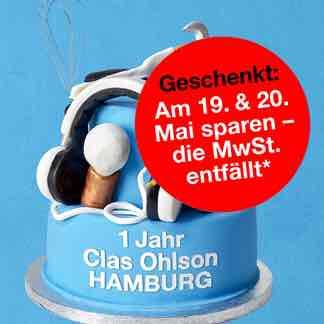 1 Jahr Clas Ohlson MwSt. sparen am 19.-20.05.