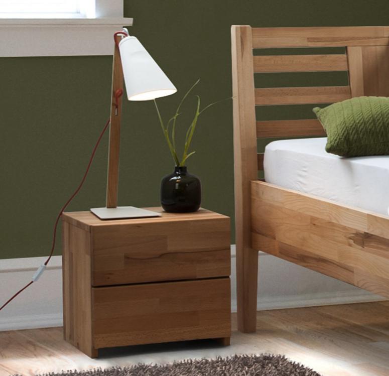 20% Rabatt auf ausgewählte Schlafzimmermöbel bei Home24, z.B. Nachtkommode Eiche massiv, 103,99€ statt 129,99€