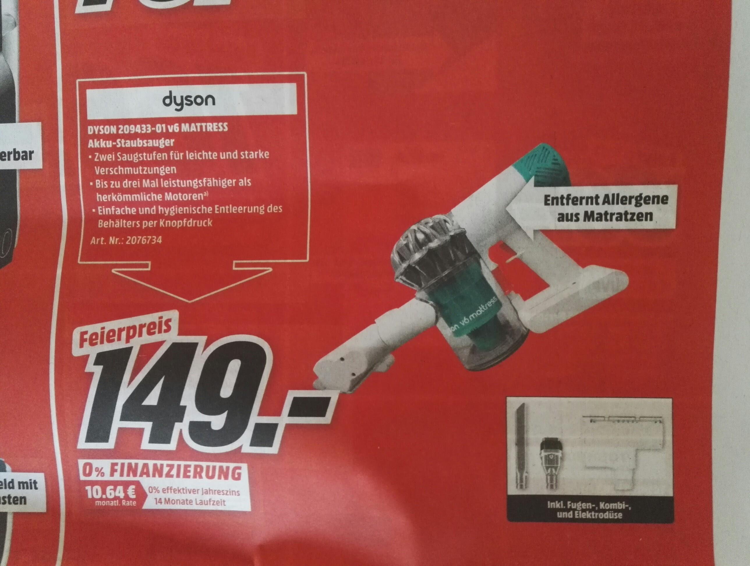 Dyson Mattress V6 für € 149,- bei Mediamarkt