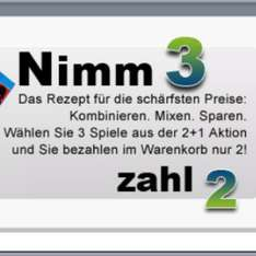 """Nimm 3 zahle 2 auf """"gamesonly.at"""". ( ps4,xboxOne, pc, ps3 )"""