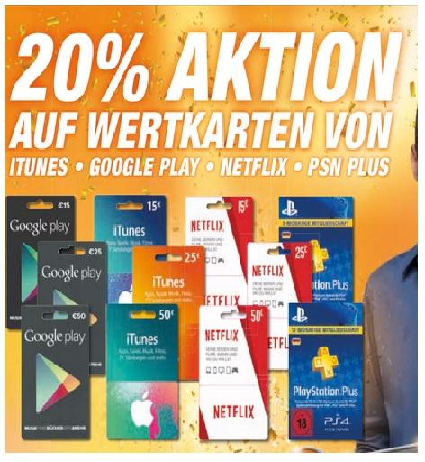 (Lokal) Expert Octomedia 20% auf Wertkarten - iTunes, Google Play, PSN, Netflix