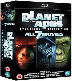 Planet der Affen Evolution Collection (7 Filme, Blu-ray) für 21,79€ bei Zavvi