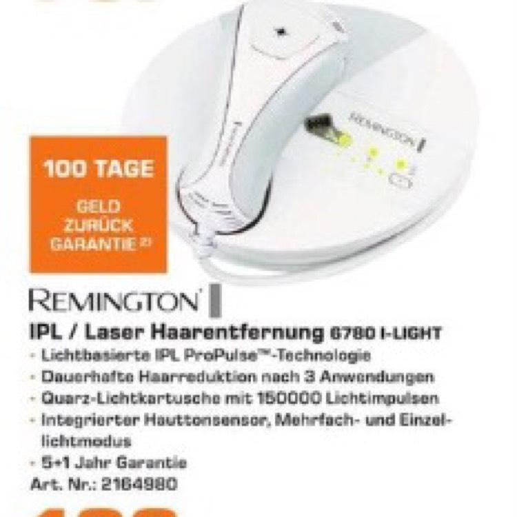 Remington IPL 6780 mit 5+1J Garantie, 100 Tage Geld zurück Garantie, *lokal* Saturn Stuttgart
