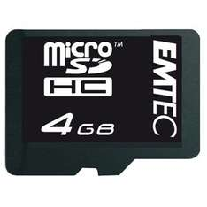 [quentano] 4GB microSD Card (Class4) EMTEC inkl. SD-Adapter und inkl. VSK für 1,99€