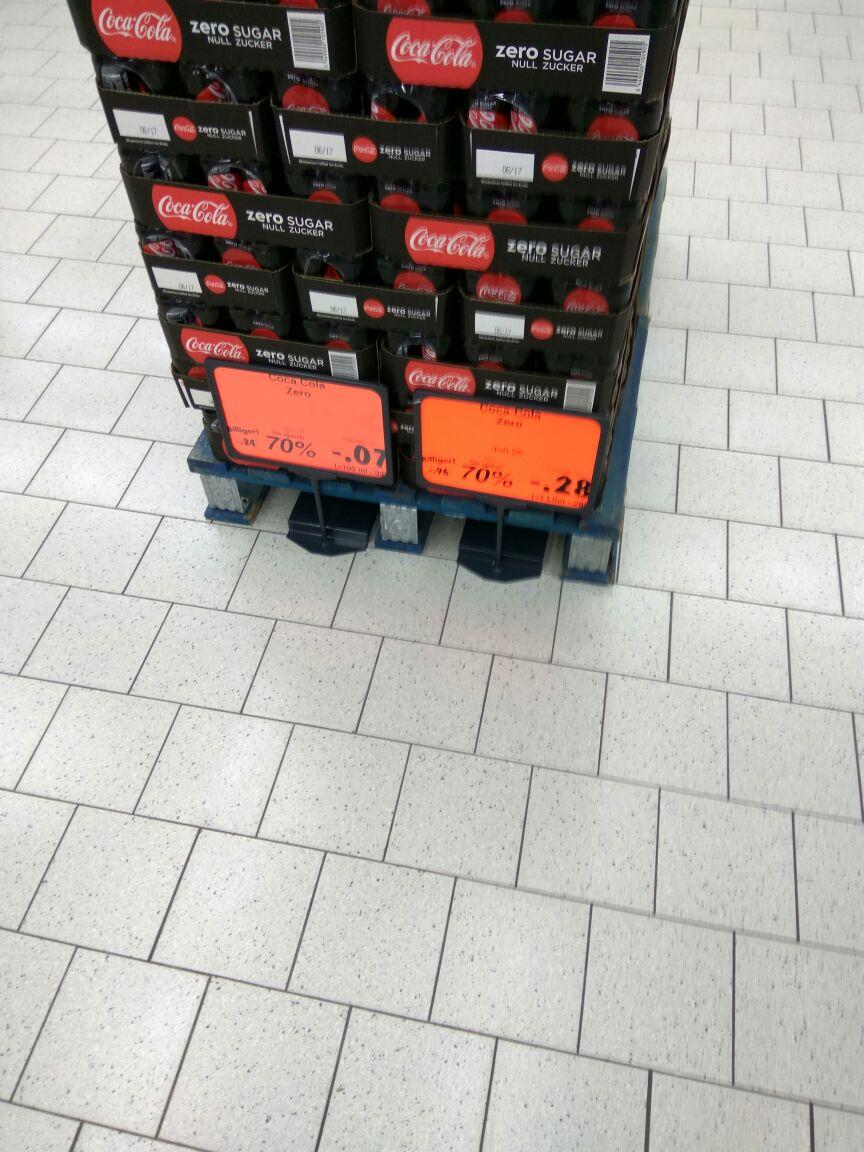 (Regensburg Kaufland) pro Dose COKE ZERO 0,07 € + 0,25 € Pfand