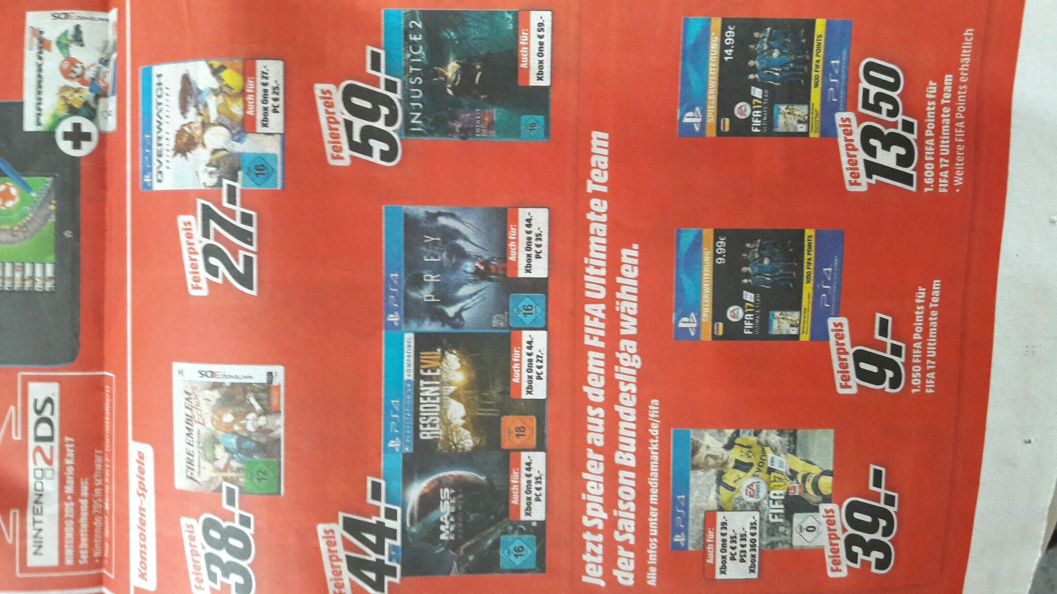 [MM Bundesweit / Markt + Online] Prey/ Resident Evil 7/ Mass Effect Andromeda für PS4 und Xbox jeweils 44,- für PC  ab 27;-