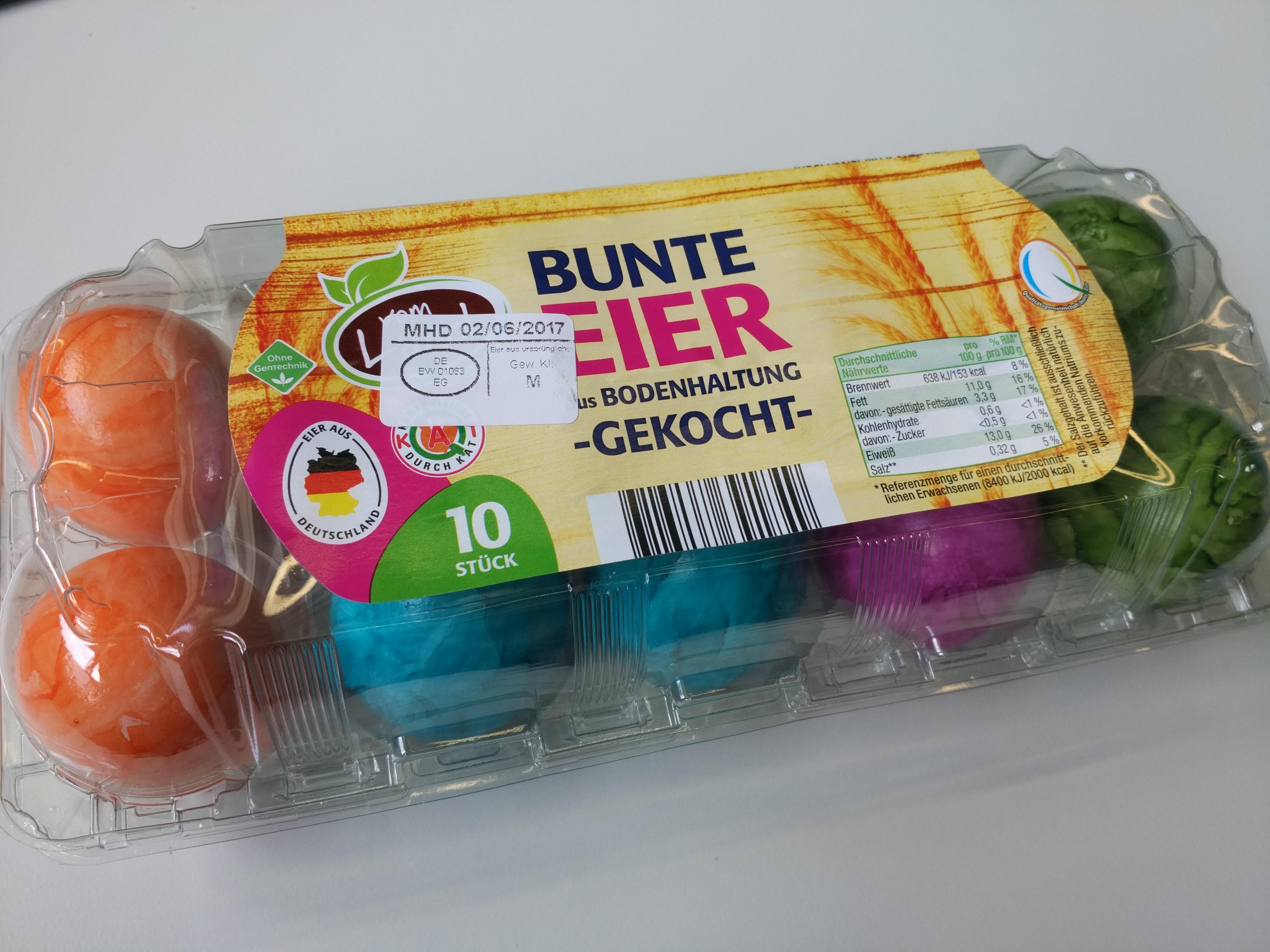 [Lokal] Netto Oberkochen 6 bunte Eier für 99 Cent und 10 bunte Eier für 1,11 €