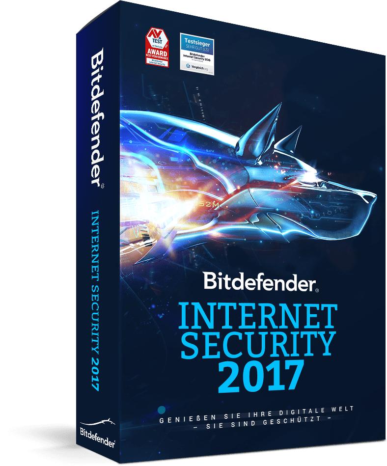 Bitdefender Internet Security 2017 (1 PC) 12 Monate kostenlos