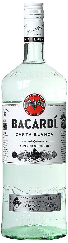 Bacardi Carta Blanca Rum (1 x 1.5 l) [Amazon.de]