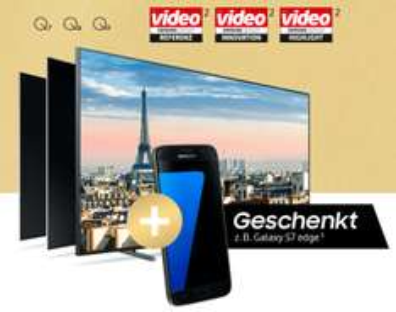 Samsung Testsiegerwoche Gratis Galaxy S7 (Edge) Samsung QLED TV
