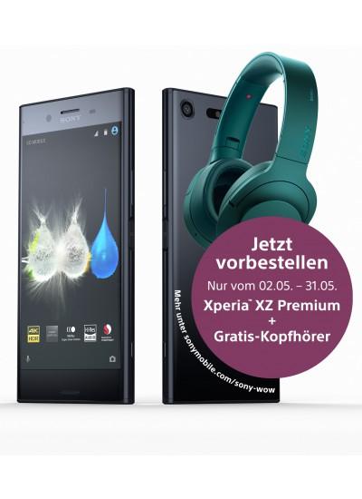 Sony Xperia XZ Premium + Kopfhörer (299€) Gratis + 6GB LTE (500mbit) + Tel. Flat & SMS Flat + Giga Depot + EU Flat (young Tarif)