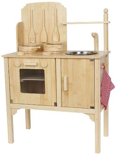Kinderküche aus Holz mit Töpfen und Zubehör [Amazon prime] für 25 statt 100 €