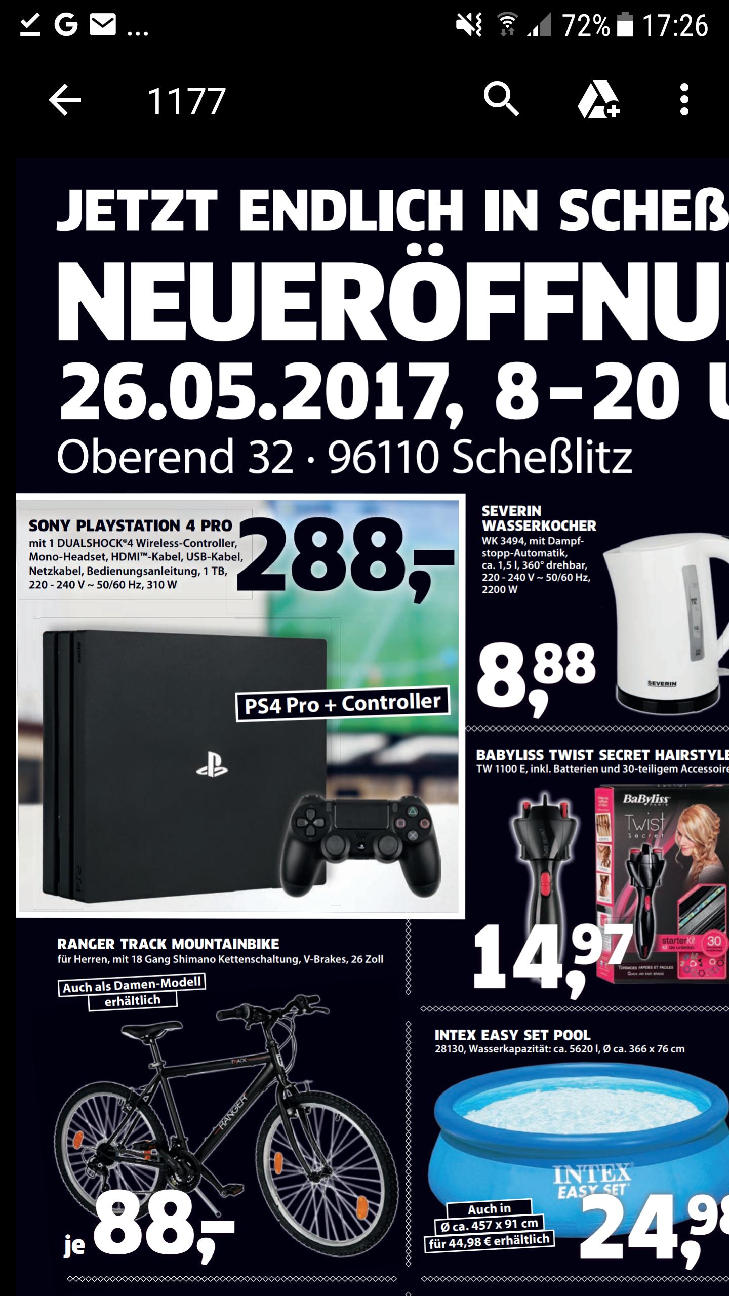 Sony PS4 Pro [lokal Black.de Scheßlitz]