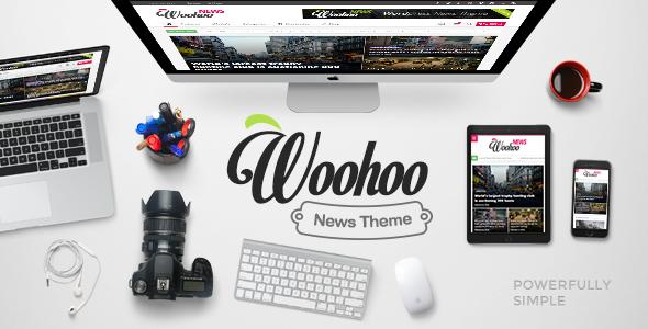 "[envato market] Wordpress Theme ""Woohoo - Modish News, Magazine and Blog Theme"""