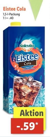 Lidl - Ab Mittwoch Eistee Cola wieder im Sortiment