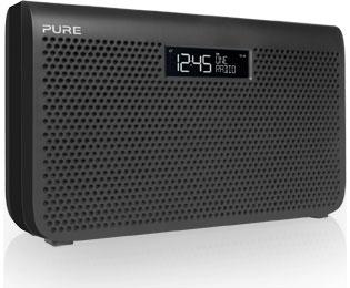 PURE ONE Maxi Serie 3 - DAB+ Radiowecker mit normalen AA Batterien/Akkus nutzbar