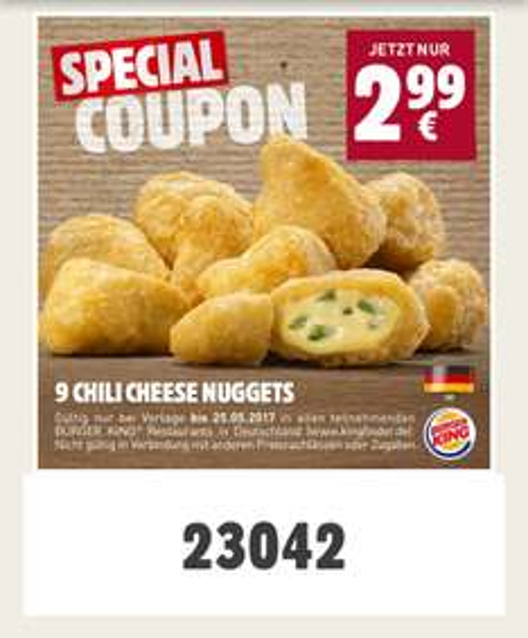[Burger King] Chili Cheese Nuggets 9 Stück