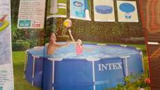 Intex Swimmingpool Set mit Filter, Plane, Schwimmer etc bei Aldi Nord