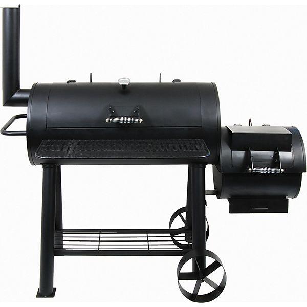 [Plus.de] El Fuego Holzkohlegrill/Smoker Huyana, Schwarz für 229€